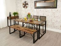 Free Delivery Now On  Baumhaus Urban Chic Large Dining Table 1- Sethcodoorstore Furniture
